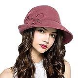 Photo de Maitose reg; Laine Femmes Feutre Fleurs Eglise Bowler Hats par Maitose