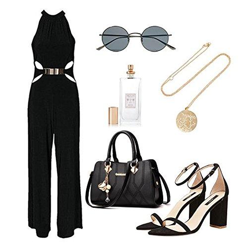 Borse Yoome Medium Crossbody per le donne borse Handle Handbag Borse eleganti - D.Pink Grigio