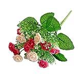 Kalaokei 1PC colorful lebensechte künstliche Rose Flower Äste Wohnzimmer Dekoration rose