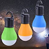 3 PCS LED Tent Lamp, HXLONG Camping Lantern Lamp Emergency Light Waterproof Portable Bulb for Hiking Fishing Camping Household Car Repairing