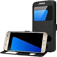 AIBULO Samsung Galaxy S7 case, Samsung Galaxy S7 Nuovo sottile del raccoglitore di vibrazione del cuoio di caso magnetico della copertura del basamento (per Samsung Galaxy S7, Nero)