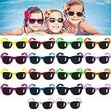 YOUNING 18 Pack Occhiali da Sole Multicolore per Bambini con Protezione UV400 Occhiali da Sole al Neon per Feste di Compleanno e attività all'aperto Spiaggia o Piscina.