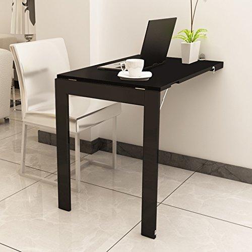 Drop-leaf Table Wand Falten, der Computer Schreibtisch Notebook Schreibtisch Esstisch Weiß Schwarz Kinder Tisch Schreibtisch Schwarz