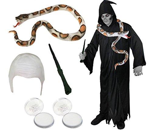 Lord Der Halloween Kostüme Dunkle (DARK LORD KOSTÜM SET /UNISEX = DAS PERFEKTE KOSTÜM SET FÜR JEDE DUNKLE HERRSCHER VERKLEIDUNG DER FANTASIE SAGA = VON ILOVEFANCYDRESS®= VERKLEIDUNG BEINHALTET -EINE LATEX SCHLANGE + EINE SCHWARZE ROBE)