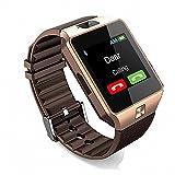 Smart Watch, CulturesIn Touch Screen Bluetooth WristWatch avec Caméra / surveillance du sommeil / analyse podomètre pour Android et IOS (gold)