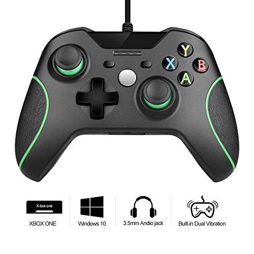 Xbox ONE Controller, rottay PC Game Controller USB Wired Verbessertes Ergonomisches Design Schultern Tasten Gamepad/Joypad Controller für Microsoft Windows (schwarz)