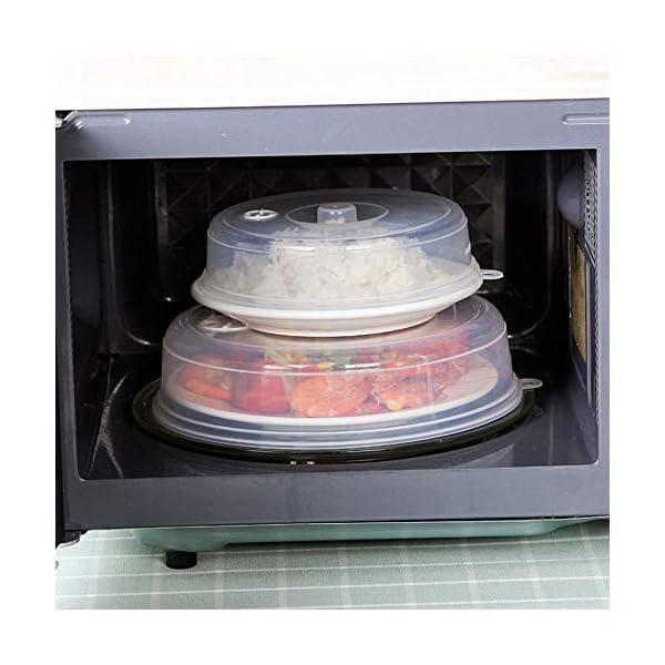 RoadRoma Cubierta de Placa de microondas con ventilaciones de Vapor Cubierta de Plato Cubierta de Salpicadura de… 5