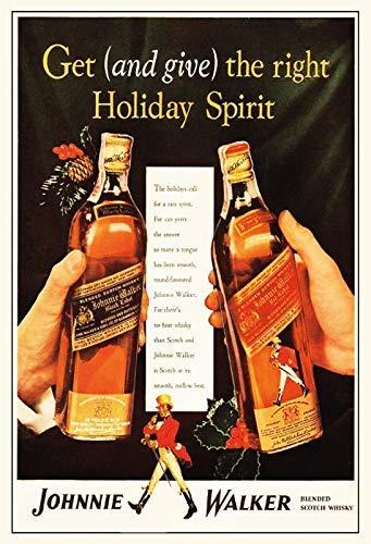 Johnnie Walker Red & Black Label Whisky Blechschild Schild Blech Metall Metal Tin Sign 20 x 30 cm
