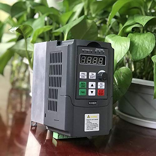 220V 0 75KW Single Phase Input 220V 3 Phase Output Frequency Converter  Professional 9100-1T-00075-G 4A VFD Inverter(black)
