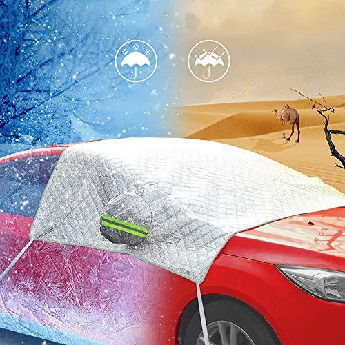 Auto Scheibe Abdeckung Bakicey Anti-Frost Auto Abdeckungen Scheibenschutz Frostabdeckung Frontscheibe Winterschutz Windschutzscheiben Scheibenabdeckung PKW Eisschutz Schneeschutz Winterabdeckung