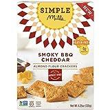 Simple Mills - Galletas de harina de almendra sin gluten Naturalmente Cheddar de barbacoa ahumada - 4.25 oz.