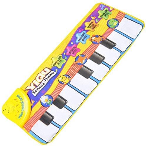 Marosoniy Musical Kind Touch Spiel Tier Pädagogische Weich Kick Teppich Matten Spielzeug Geschenk (Piano)
