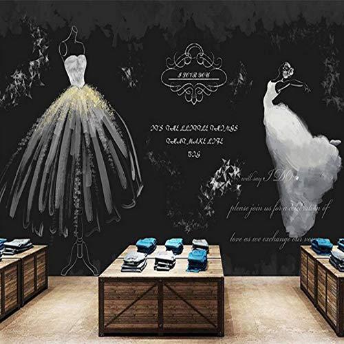 3D Tapete Retro Weiß Hochzeitskleid Wandbild Wohnzimmer Tv Hintergrund Wandaufkleber Wanddekoration...