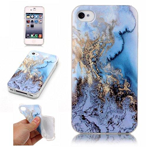 iPhone 7 Plus Marmor Handyhülle, Bestsky iPhone 7 Plus Marble Hülle Protective Case TPU Silicone Schutzhülle mit IMD Technologie Design, Schwarz #01