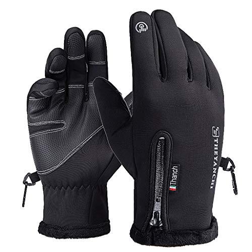 NJ Warme Handschuhe Touch Screen Plus Samt Handschuhe Rutschfeste Laufende Winddichte Wasserdichte Sport Reithandschuhe (größe : XXL)