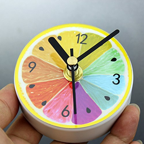 TOOGOO Patron de Limon Unico Refrigerador de Cocina Iman de Nevera Reloj Portatil arabe Reloj de Magma Digital Decoracion del Hogar