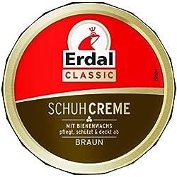 Erdal Lot de 6 boîtes de crème pour chaussures Marron (6 x 75 ml)