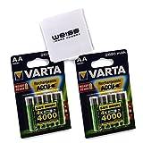VARTA Rechargeable Accu Ready To Use, vorgeladen AA Mignon NiMh Akku 2600 mAh, wiederaufladbar, ohne Memory-Effekt - sofort einsatzbereit inkl. WEISS - more power + Akkuschutzbox (2x 4er-Blister + 1x Akkuschutzbox)