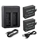 Action Camera Battery, Rechargeable 2pcs 1100mAh Batteries + - Best Reviews Guide