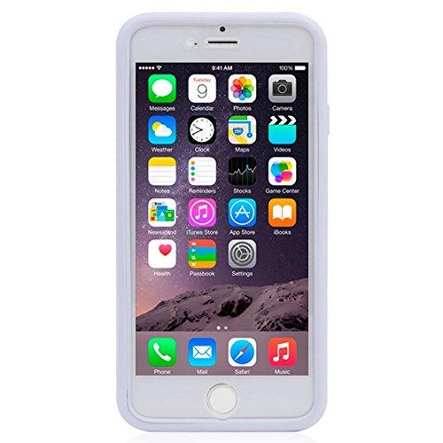 Wkae Case Cover Horizontal Flip-Screen-bereifte TPU Schutzhülle für das iPhone 6 Plus &6S plus ( Color : White ) White
