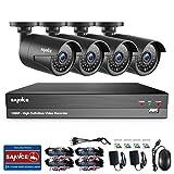 SANNCE 1080P Überwachungskamera System 4 x 1080P Wetterfest HD-Kamera Außen und 4CH DVR ohne Festplatte 1080P Überwachungskamera Set Bewegungsmelder 30M IR Nachtsicht
