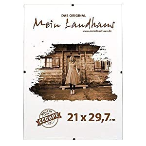 Mein Landhaus Bilderrahmen Rahmenlos | Din A 4 Rahmen für Urkunden und Bilder | Glasrahmen 21cm x 29,7cm (10 STK.)