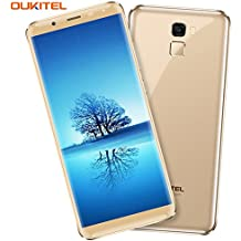 Telefonos Moviles Libre, OUKITEL K5000 4G Smartphone (18: 9 Relación Visión Completa) 5.7 Pulgadas 5000mAh Batería Cámara Sony 16MP + Samsung 21MP MT6750T Octa Core 1.5GHz 4GB RAM 64GB ROM Huella Digital GPS Dual SIM