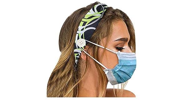 OXUO Fascia per bottoni Cerchietti Elastici per Capelli a Fascia fasce per capelli Boho annodate fasce per capelli elastico antiscivolo avvolgente accessori per capelli allaperto