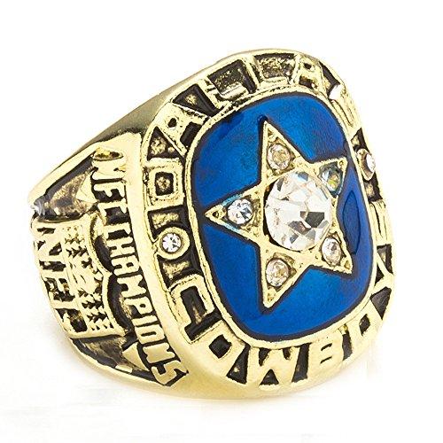 Budazo Gezeiten Herren Titan Stahl Neue Gold 1970 Dallas Meisterschaft Ringe,Größe ()