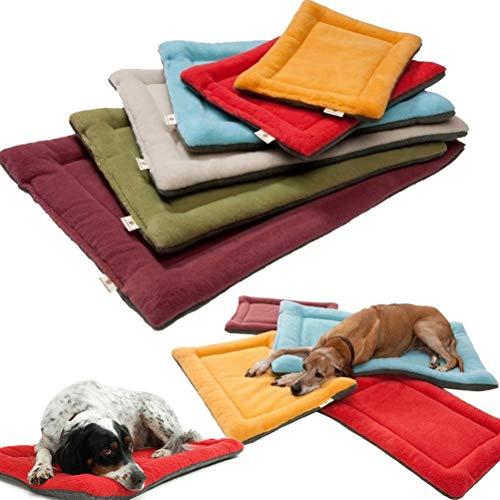 Manco Luella Haustier-Matte und Schlafkissen für Hundekäfige, weich, warm, Schlafmatratze, Haustierbett, waschbar, gemütlich, Fleece-Matratze, für Haustiere, Haus, Böden, Hundekäfig, Käfigbett
