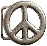 Fronhofer Gürtelschnalle Buckle Peace 4 cm altsilber Peace-Zeichen Schnalle, 18183, Farbe:Silber, Größe:One Size