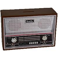 Preisvergleich für Bada Bing Spardose Retro Radio SCHWARZ Money Bank Sparschwein Geschenk Geburtstag 254