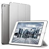 ESR iPad Mini Hülle, Auto Aufwachen/Schlaf Funktion PU Ledertasche Smart Case Cover mit Durchschaubar Rückseite Abdeckung Schutzhülle für Apple iPad mini 3/mini 2/mini 1 (Raum Grau)