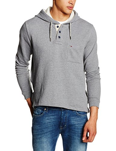 Hilfiger Denim Thdm HD Hknit L/S 11, Felpa Uomo, Grau (Blue Grey Htr 094), Medium