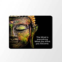 Mouse Pad | Buddha Print Mouse Pad | Designer High Quality Waterproof Coating Gaming Mouse Pad With Black Base