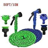by Goank Amazing 50 FT Expandable Garden Hose Water Pipe Flexible Hosepipe w/Spray Gun (50FT, Blue)