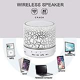 LayOPO Bluetooth-Lautsprecher mit Beleuchtung, tragbare Mini-LED-Lautsprecher mit Lauten, Lauten Stereo-Lautsprechern und wiederaufladbarem Akku, eingebautem Mikrofon, TF-Karte, AUX-Kabel