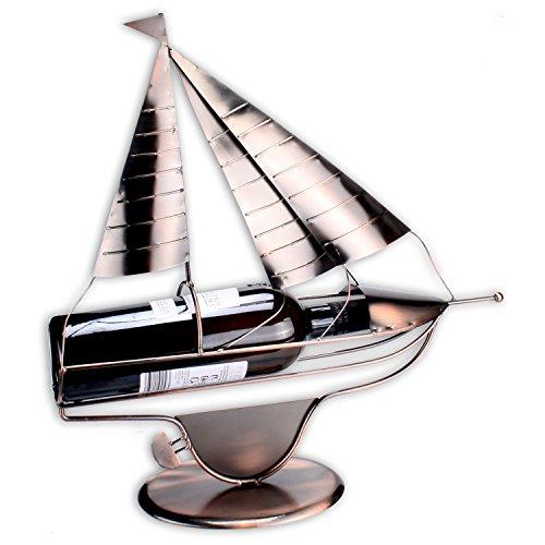 Weinflaschenhalter Modell 'Sailor' in edler Kupferoptik 43cm x 42cm x 9cm