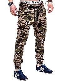 BetterStylz MasonBZ Herren Cargo Chino Jogger Hose Pant Slim Fit Cargotaschen Army Style 8 Farben (XS-5XL)