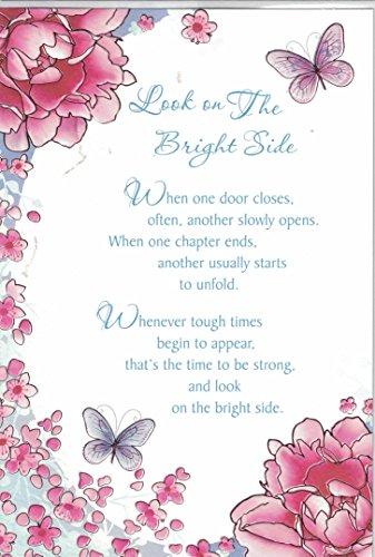 Look On The Bright Side ~ moderne contemporain Motivante amusant carte souvenir par Sensations
