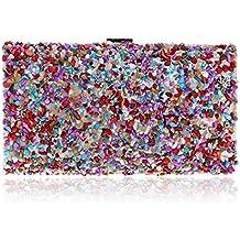 0fea4ef40 Bolso de noche de embrague Cuerpo cruzado Piedras de colores Diamante Bolso  bandolera Bolso para Señoras