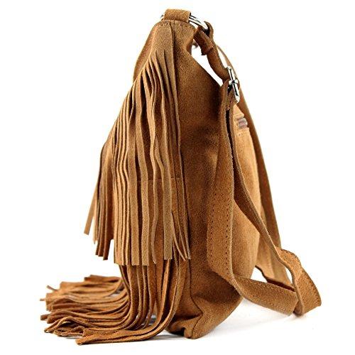Borsa a mano borsa a tracolla shopping bag donna in vera pelle italiana T02 Hellcamel