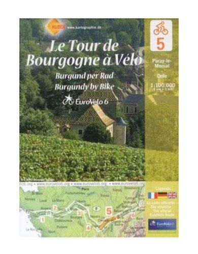 Le Tour de Bourgogne : Paray-le-Monial-Dole, 1/100 000 par Huber Verlag