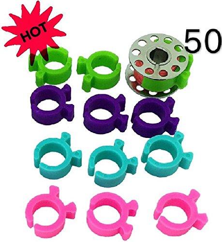 peavytailor 50PCS Gewinde Bobbin Halter Clips ideal für Stickereien, Quilten und Nähen Gewinde
