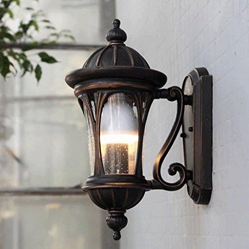 KYDJ Lampe de mur épais continental petit wall lamp lampe murale extérieure lampe murale corridor couloir balcon extérieur de l'écran solaire Imperméable Promotions feux