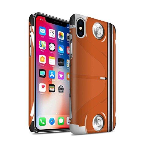 STUFF4 Matte Snap-On Hülle / Case für Apple iPhone X/10 / Leuchtend Orange Muster / Retro Beetle Kollektion Leuchtend Orange