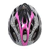 DAZISEN Männer und Frauen Unisex Fahrradhelm Schutzkleidung - Mode Sport Outdoor Ski Skateboard Roller Helm, Rosa Schwarz