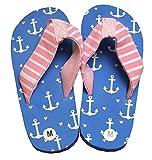 Hatley M&AumlDchen Lbh Kids Flip Flops-Girl Anchors Dusch-& Badeschuhe, Blau, XL