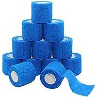 Fuluning, 12 Stück, 5,1 cm X 5 Meter Tapeverband, selbsthaftend Tape, Sportbandage stark Sport Tape für Handgelenk... preisvergleich bei billige-tabletten.eu