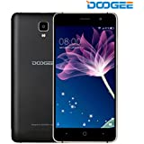 Smartphone ohne vertrag, DOOGEE X10 Dual SIM Android 6.0 handy, 5 Zoll HD Display, MT6570 Quad Core, 512M RAM + 8GB ROM - 2.0MP + 5.0MP Kamera - Obadisan Schwarz